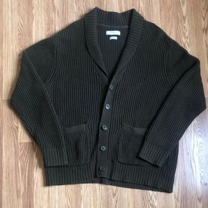 Urban Outfitters Olive Shawl Collar Cardigan